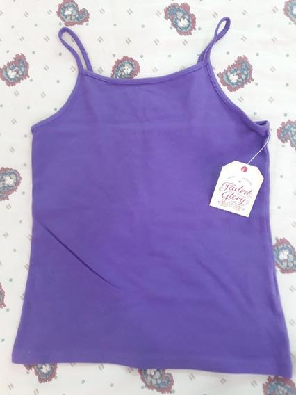 Super Oferta - Musculosa Violeta Faded Glory Importada M 7-8