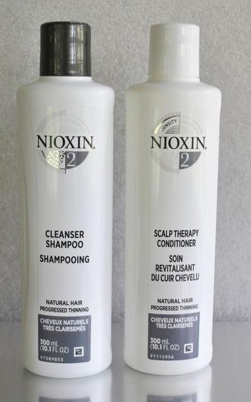Nioxin Hair System 2 Cleanser - Kit Sh 300ml + Cond 300ml