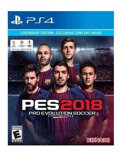 Juego Ps4 Pro Evolution Soccer Pes 2018