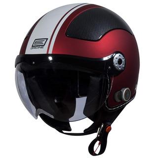 Origine O528b Pilota 3/4 Casco Con Blinc Bluetooth ( Rojo Pl