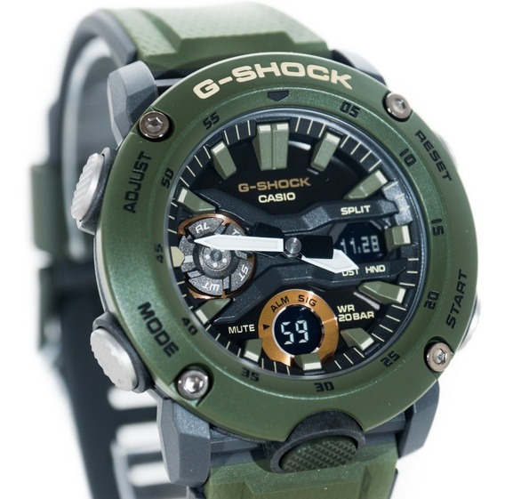 Relógio G-shock Ga 2000 3adr Verde Original Garantia Lançame