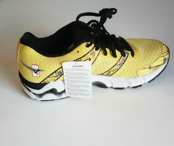 Tênis Mizuno Wave Prime 10 Amarelo/preto/branco Promoção
