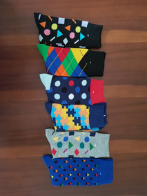 Calcetines Estilo Happy Socks (paquete Con 6 Pares)