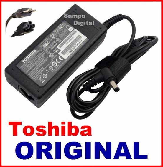 Fonte Original Notebook Toshiba 19v 3.42a - 65w - Bivolt