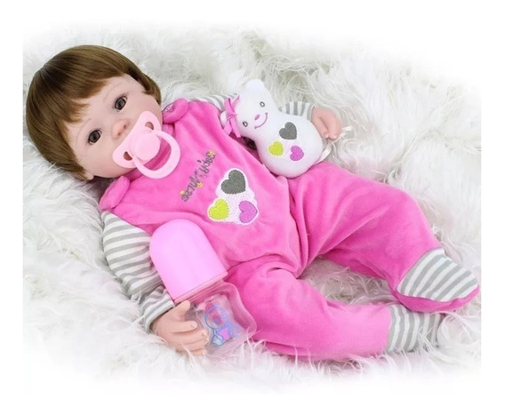 Bebe Reborn Boneca Silicone Baby Menina Barato Lbc