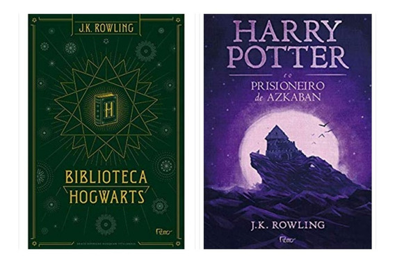 Box Biblioteca Hogwarts + O Prisioneiro De Azkaban