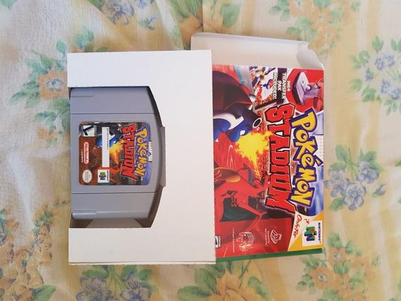 Cartucho Pokémon Stadium N64 Original Com Berço Paralelo