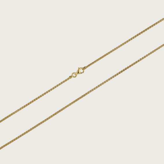 Cordão Em Ouro 18k Feminino Palmeira Com 40cm - 1,5gr