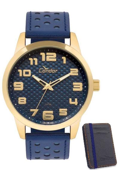 Kit De Relógio Condor Masculino Co2036kum/k2a Azul