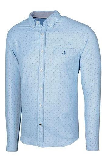 Camisa Vestir Caballero Polo Club Ak061 Azul 82040 T3