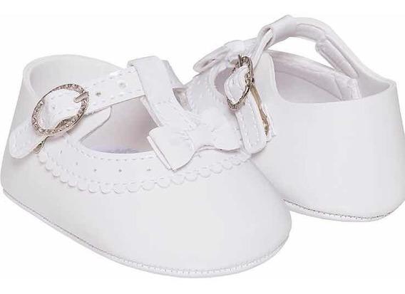 Sapatinho Pimpolho Branco Menina Bebê Infantil Feminino