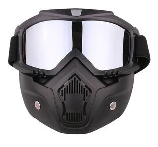 Mascara Y Gogles Tacticos Motocross Gotcha Ciclismo Skate