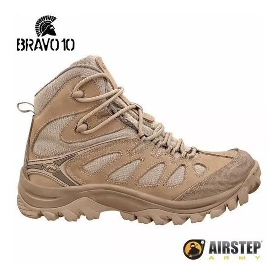 Bota Airstep Bravo 10 Couro Hiking Boot Trilha Camping