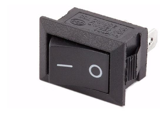 Interruptor On/off Negro Rocker Switch Boton Balancin Apagador 3a