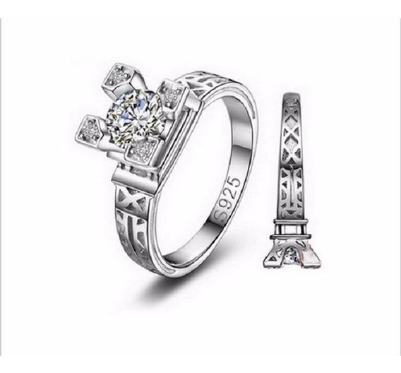 Anel Torre Eiffel Paris, Zircônia Banhado 18k Tamanho 16 17