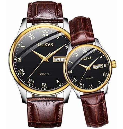 Las Parejas Relojes Para Él Y Ella Regalos Impermeable Reloj