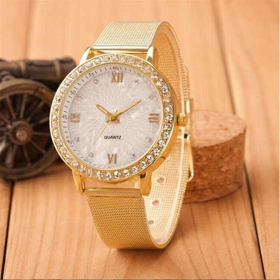 Relógio Feminino Ouro/diamantes