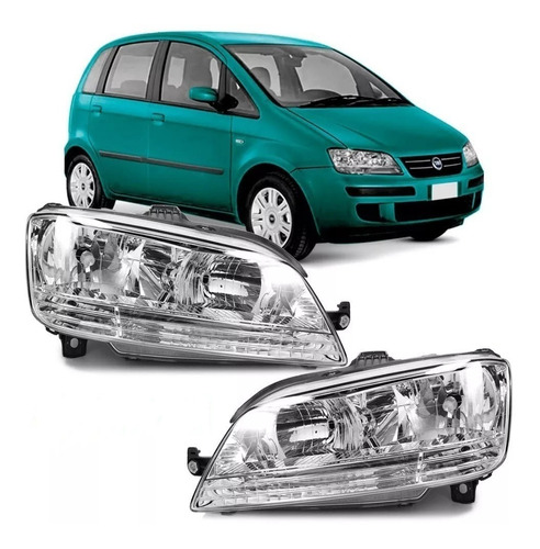 Juego De Optica Fiat Idea 2006 2007 2008 2009 2010