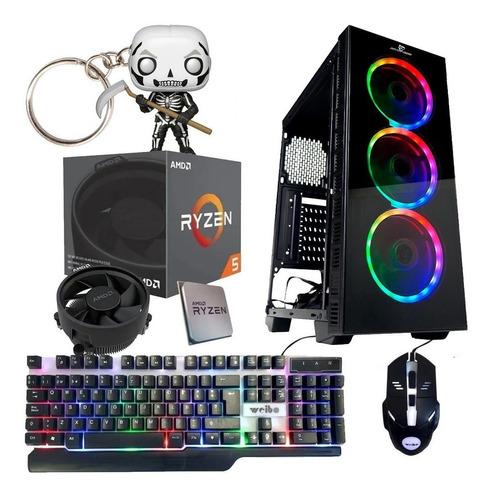 Imagen 1 de 7 de Pc Gamer Ryzen 3 Gabinete Coolers Rgb Ssd 8gb Ram Video Vega