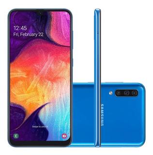 Smartphone Samsung Galaxy A50 Sm-a505g, Android 9.0 Octa Core 64gb Câmera Tripla Traseira Tela 6.4 , Azul
