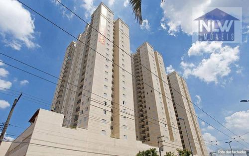 Apartamento Com 2 Dormitórios À Venda, 49 M² Por R$ 325.900,00 - Centro - Diadema/sp - Ap0256