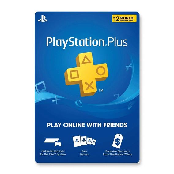 Tarjeta Psn Plus 12 Meses Digital Usa   Entrega Inmediata - Gamer24hs