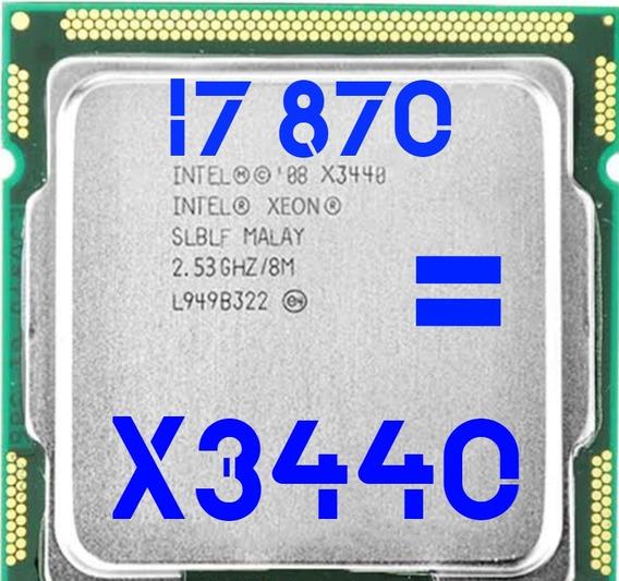 Processador Xeon X3440 = I7 870 2.53ghz 1156 + Brinde