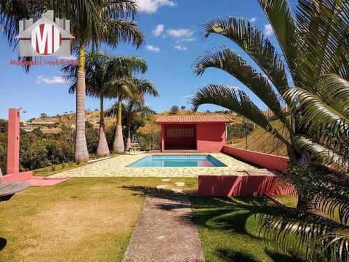 Imagem 1 de 30 de Linda Chácara Com 4 Dormitórios, Sendo 01 Suíte, Pomar, Piscina E Campo De Futebol,  À Venda, 5600 M² Por R$ 450.000 - Zona Rural - Pinhalzinho/sp - Ch0716