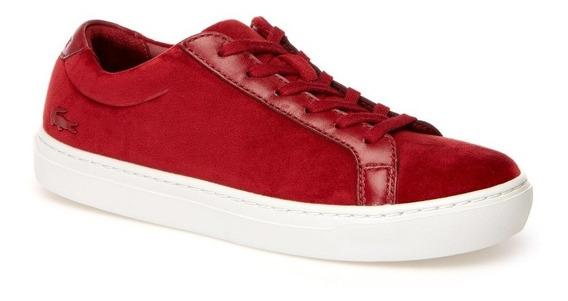 Tenis Lacoste Dama L1212 Wt Rojos Casuales Mujer Originales