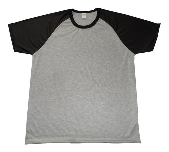 Camisetas Raglan Mescla Para Sublimação Atacado Kit Com 10