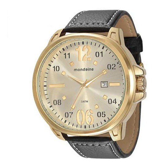Relógio Masculino Mondaine 76462gpmgdh Dourado Couro Vltrine