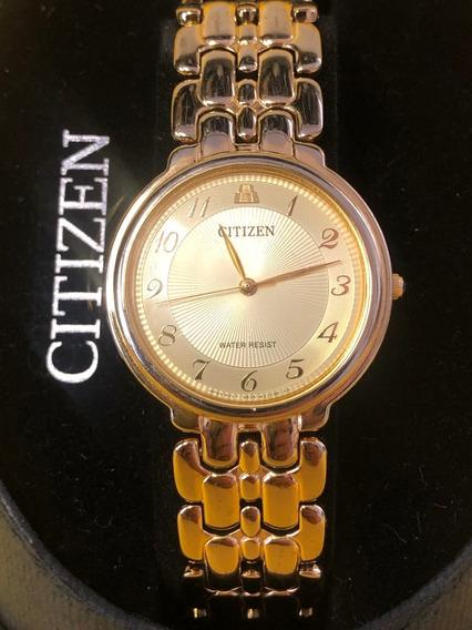 Reloj Citizen Aztec Chapa De Oro
