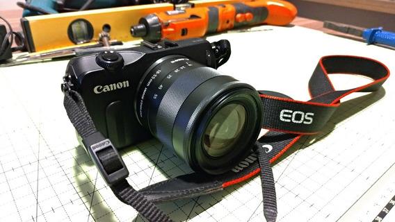 Canon Eos M Original Com Lente 18-55