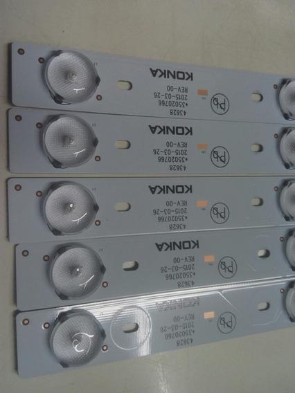 Kit 5 Barra De Led Semp Toshiba 43l2500