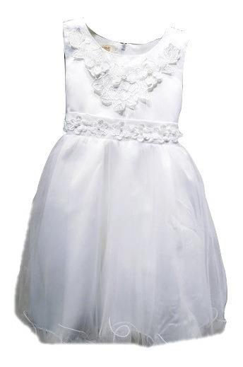 Vestido Fiesta Importado De Nena Encaje Bordado Arti: 1901