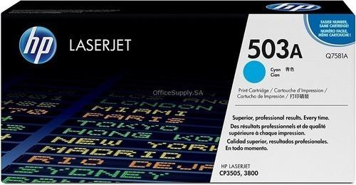Cartucho Toner Hp Q7581a Cyan Azul Original 503a Hp