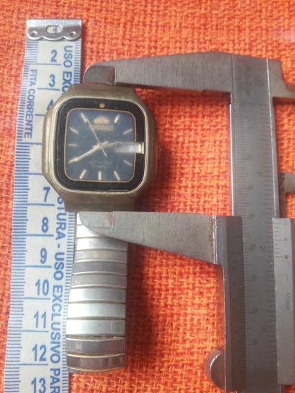Relógio Antigo Orient G469522-4a Ca Quadrado Automático Lei