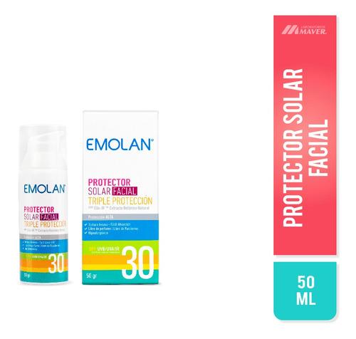 Emolan Solar Fac.triple Prot.spf30 50ml Protec Solar Facial