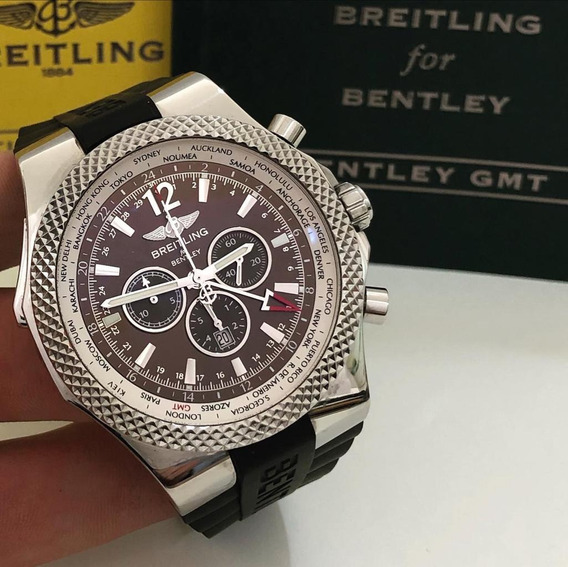 Breitling Bentley Gmt Special Edition 48mm Impecável Complet