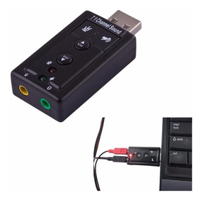 Placa De Som Usb 7.1 Canais Notebook Pc Audio Kit Com 5 Bc