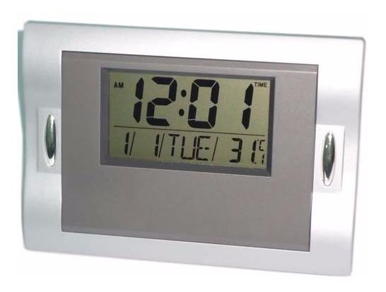 Relógio De Parede Mesa Digital Data Temperatura Alarme 6606c