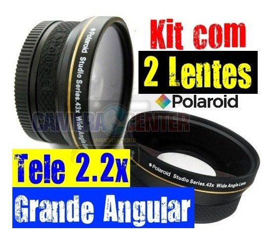 Kit Completo 3 Lentes: Telefoto 2.2 + Grande Angular + Macro