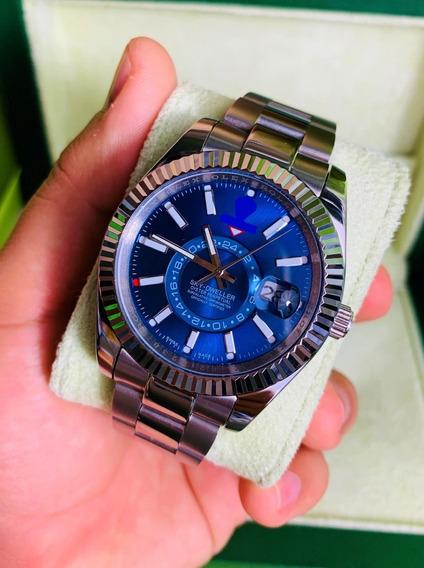 Reloj Acero Inoxidable Sky Dweller Automatico Esfera Azul