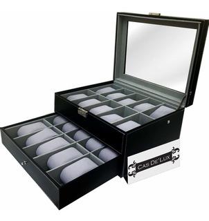 Organizador De Relojes Con 20 Compartimentos Por Beauty Bon