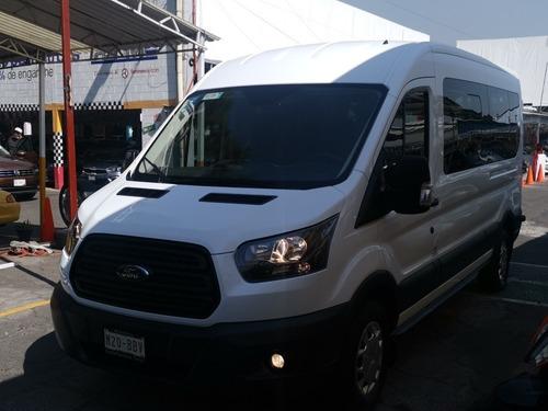 Ford Transit 2.2 Pasajeros Larga Techo Alto Custom Mt 2019