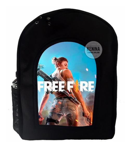 Mochila Free Fire Juego Marshmello Fornite Apex Roblox Compa