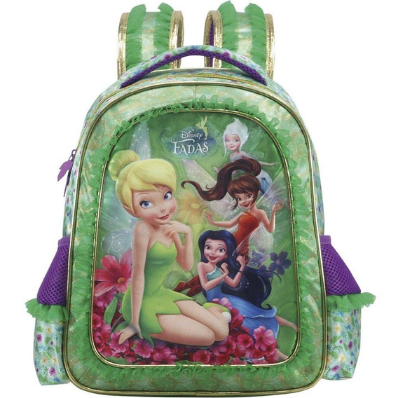 Mochila Infantil De Costas Fadas Disney Grande 7032 - Xeryus