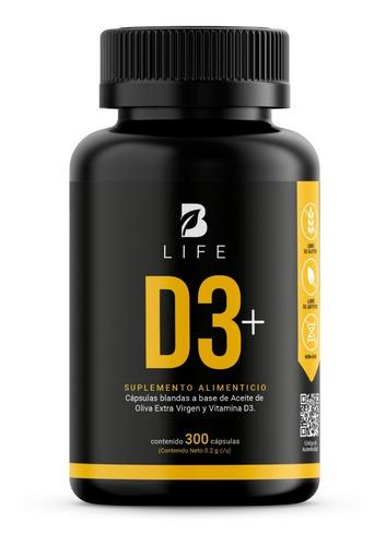Imagen 1 de 6 de Vitamina D3 5000  Ui 300 Cápsulas  B Life