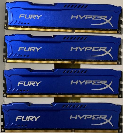 Memória Gamer 8gb Ddr3 1866mhz Kingston Hyperx Fury
