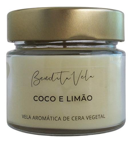 Vela Aromática Vegetal Coco E Limão - Bendita Vela